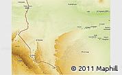 Physical 3D Map of Awbari (Ubari)