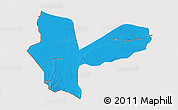 Political 3D Map of Awbari (Ubari), cropped outside