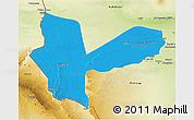 Political 3D Map of Awbari (Ubari), physical outside