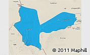 Political 3D Map of Awbari (Ubari), shaded relief outside