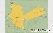 Savanna Style 3D Map of Awbari (Ubari)