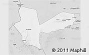Silver Style 3D Map of Awbari (Ubari)