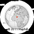 Outline Map of Awbari (Ubari)