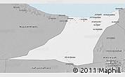 Gray 3D Map of Az Zawia (Azzawiya)