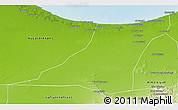 Physical 3D Map of Az Zawia (Azzawiya)