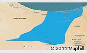 Political 3D Map of Az Zawia (Azzawiya), satellite outside