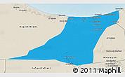 Political 3D Map of Az Zawia (Azzawiya), shaded relief outside