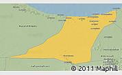 Savanna Style 3D Map of Az Zawia (Azzawiya)