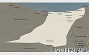 Shaded Relief 3D Map of Az Zawia (Azzawiya), darken