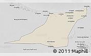 Shaded Relief 3D Map of Az Zawia (Azzawiya), desaturated