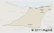 Shaded Relief 3D Map of Az Zawia (Azzawiya), lighten