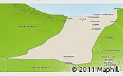 Shaded Relief 3D Map of Az Zawia (Azzawiya), physical outside