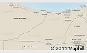 Shaded Relief 3D Map of Az Zawia (Azzawiya)