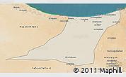 Shaded Relief 3D Map of Az Zawia (Azzawiya), satellite outside