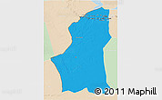Political 3D Map of Ghadamis, lighten