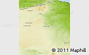 Physical 3D Map of Gharyan