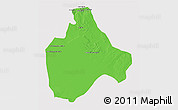 Political 3D Map of Gharyan, cropped outside