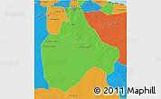 Political 3D Map of Gharyan