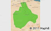Political 3D Map of Gharyan, satellite outside