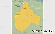 Savanna Style 3D Map of Gharyan
