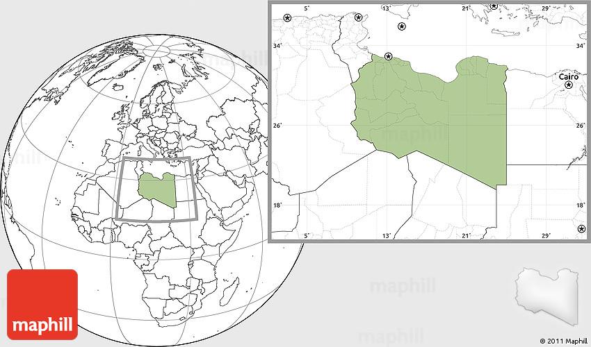 Savanna Style Location Map Of Libya Blank Outside - Libya blank map
