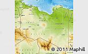 Physical Map of Libya