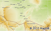 Physical 3D Map of Murzuq