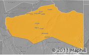 Political 3D Map of Murzuq, desaturated