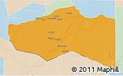 Political 3D Map of Murzuq, lighten