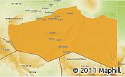 Political 3D Map of Murzuq, physical outside