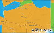 Political 3D Map of Murzuq