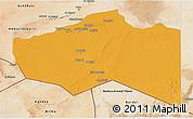 Political 3D Map of Murzuq, satellite outside