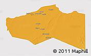 Political 3D Map of Murzuq, single color outside