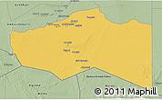 Savanna Style 3D Map of Murzuq