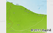 Physical 3D Map of Nuqat Al Khams