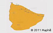 Political 3D Map of Nuqat Al Khams, cropped outside