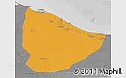 Political 3D Map of Nuqat Al Khams, desaturated
