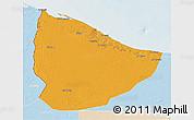 Political 3D Map of Nuqat Al Khams, lighten