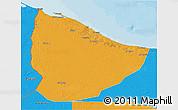 Political 3D Map of Nuqat Al Khams