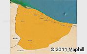 Political 3D Map of Nuqat Al Khams, satellite outside