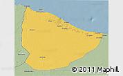 Savanna Style 3D Map of Nuqat Al Khams
