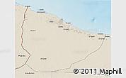 Shaded Relief 3D Map of Nuqat Al Khams
