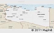 Classic Style Panoramic Map of Libya
