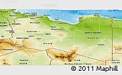 Physical Panoramic Map of Libya