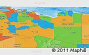 Political Panoramic Map of Libya