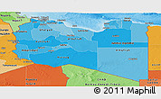 Political Shades Panoramic Map of Libya