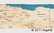 Satellite Panoramic Map of Libya