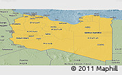 Savanna Style Panoramic Map of Libya