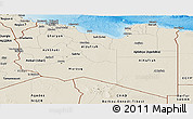 Shaded Relief Panoramic Map of Libya