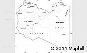 Blank Simple Map Of Libya - Libya blank map